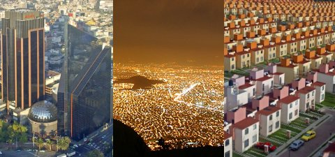 Aerial Photos of Mexico City.