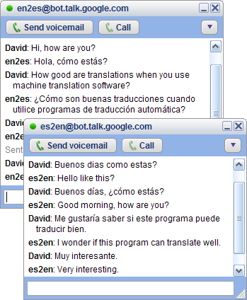 Google Talk Translating Robot